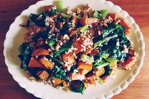 brown rice & pumpkin salad recipe