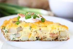 Healthy Breakfast Sweet Potato Frittata
